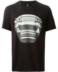 Neil Barrett Marble Bust Print T-shirt - Lyst