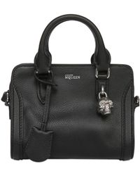 Alexander McQueen Mini Padlock Grained Leather Bag - Lyst