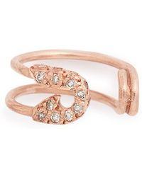 Iam By Ileana Makri - Safety Pin Diamond Ear Cuff - Lyst