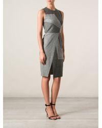 Prabal Gurung Patchwork Design Fitted Dress - Lyst