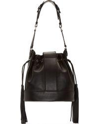Versace Black Leather Bucket Bag - Lyst