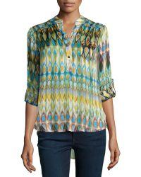 Nikkies Threads - Printed Long-Sleeve Tunic - Lyst