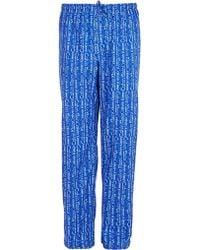 Calvin Klein Cotton Woven Logo Pyjama Pants Sky Blue - Lyst
