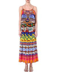 Camilla Sacred Charm Silk Maxi Dress Sacred Charm - Lyst
