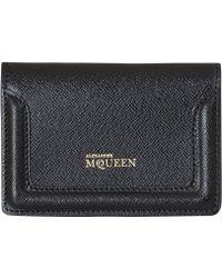 Alexander McQueen Black Heroine Card Holder - Lyst
