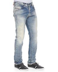 Diesel Belther 32 Taperedleg Denim Jeans Light Blue - Lyst