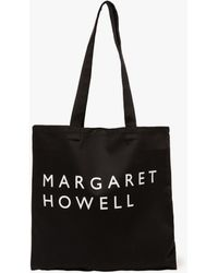 Margaret Howell - Logo Bag Cotton Drill In Black - Lyst