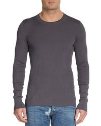 Dolce & Gabbana Silk & Cotton Ribbed Pullover - Lyst