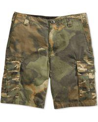 Volcom - Slargo Cargo Mixed Camouflage Shorts - Lyst