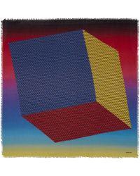 Pierre Hardy - Multicoloured Cube Inkjet Degrade Cashmere-blend Scarf - Lyst