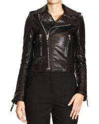 Balenciaga Jacket Biker Agneau Plonge - Lyst