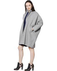 MM6 by Maison Martin Margiela Oversize Wool Coat - Grey