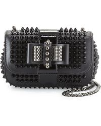 8af6fc69ec0 Sweet Charity Small Spiked Cross-Body Bag - Black ... Info Punctuated with  shiny tonal spikes, Christian Louboutin's Sweet Charity cross-body bag is  ...