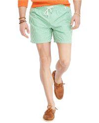Polo Ralph Lauren Traveler Gingham Swim Shorts - Lyst
