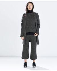 Zara Coat with Lapels - Lyst