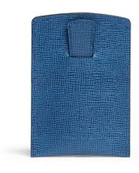Mark Cross Saffiano Leather Business Card Case - Lyst