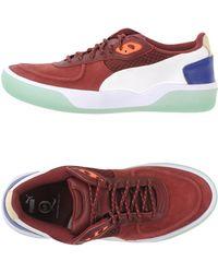 Alexander McQueen x Puma | Paneled Nubuck Leather Low-Top Sneakers | Lyst