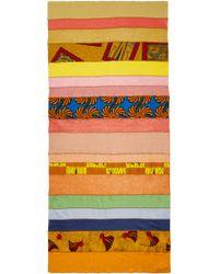 Junya Watanabe - Multicolor Patchwork Scarf - Lyst