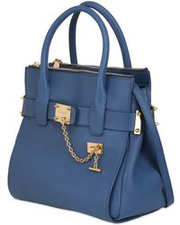 DSquared² Grained Leather Top Handle Bag - Blue