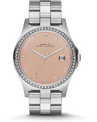 Marc By Marc Jacobs Henry Glitz Stainless Steel Bracelet Watch - Lyst