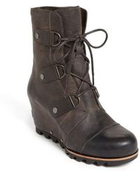 Sorel 'Joan Of Arctic' Wedge Boot brown - Lyst