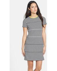 Maggy London Women'S Stripe Short Sleeve Knit Dress - Lyst