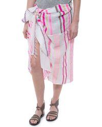 Lemlem Zare Split Sarong pink - Lyst