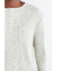 Feathers - Thermal Henley Tee - Lyst