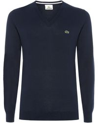 Lacoste Vneck Sweater - Lyst