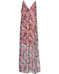 Vero Moda Long Dress pink - Lyst