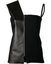 Atto - Leather Panel Top - Lyst