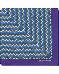 Turnbull & Asser Zigzag Silk Pocket Square - For Men purple - Lyst