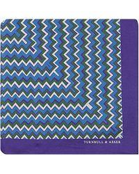 Turnbull & Asser Zigzag Silk Pocket Square - For Men - Lyst