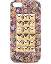 Jagger Edge - Montana Luxe Flowers Iphone 5 / 5S Case - Golden Flowers/Gold - Lyst