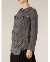 Comme Des Garçons Plaited Front Sweater - Lyst