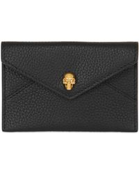 Alexander McQueen | Grained Leather Business Card Holder | Lyst