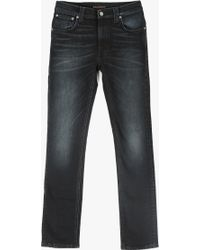 "Nudie Jeans 32"" Thin Finn Jean blue - Lyst"