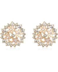 River Island Gold Tone Clustered Flower Stud Earrings - Lyst