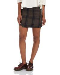 Free People Bonded Plaid Skirt - Lyst