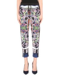 Clover Canyon Swirling Scarf Stretch-Crepe Trousers - For Women - Lyst