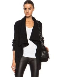 Yigal Azrouel Graphic Texture Alpacablend Cardigan - Lyst