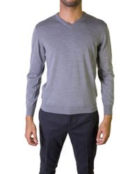 Ones | Grey V-neck Sweater | Lyst