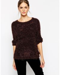Ganni Long Sleeve Sweater - Lyst