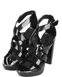 Topshop Lucky Shiny Platform Sandals - Lyst