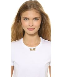 KENZO - Double Tiger Necklace - Gold - Lyst