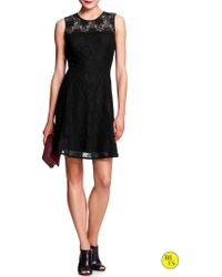 Banana Republic Factory Black Lace Dress  Black - Lyst