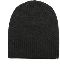 Blue & Cream - Micro Stitch Beanie - Lyst