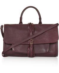 Topshop Leather Bucket Shoulder Bag  Burgundy - Lyst