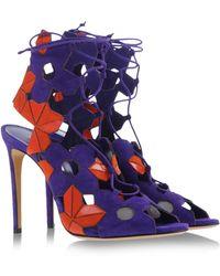 Casadei Sandals purple - Lyst