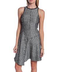 10 Crosby Derek Lam Sleeveless Open-Weave Dress W/Asymmetric Hem - Lyst